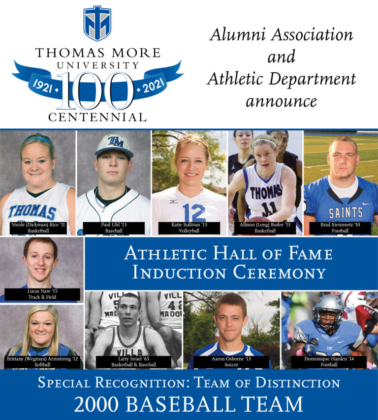 Athletic Hall of Fame Induction ceremony. Special recognition: team of distinction 2000 baseball team
