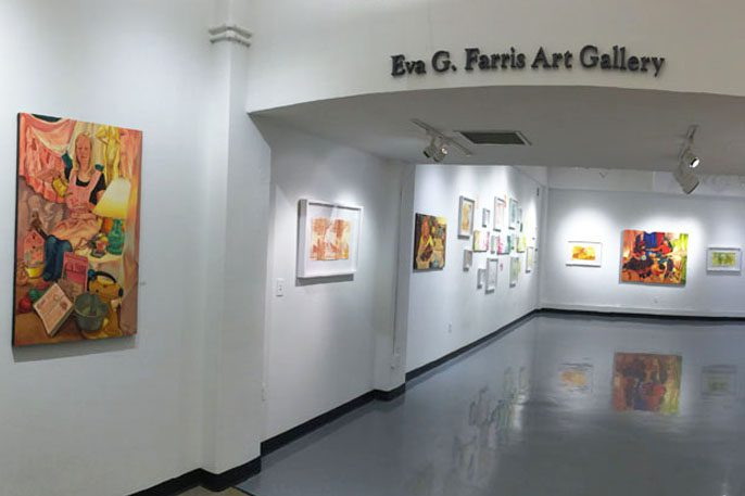 art hanging in a gallery