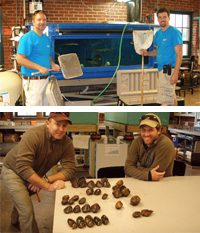 Mussel research at the Biology Field Station